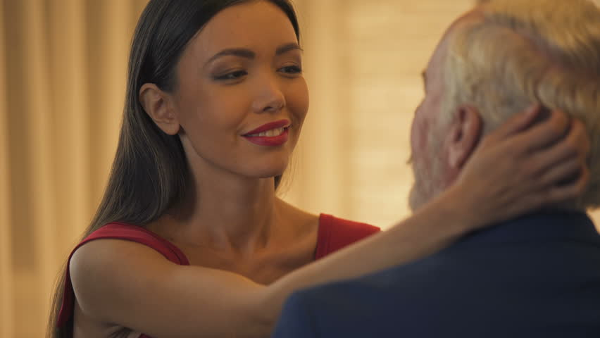 old man young beautiful girl