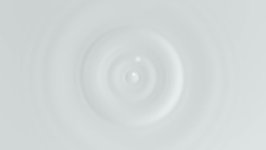 Super slow motion of dripping milk drop, top view. Filmed on high speed cinema camera, 1000 fps. Royalty-Free Stock Footage #1020608947