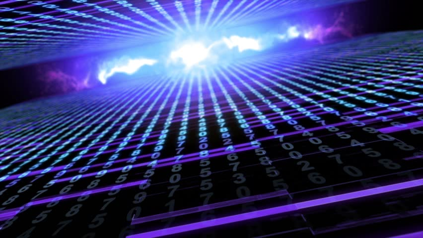 Abstract animation technological background digital cyber space loop | Shutterstock HD Video #1020705022