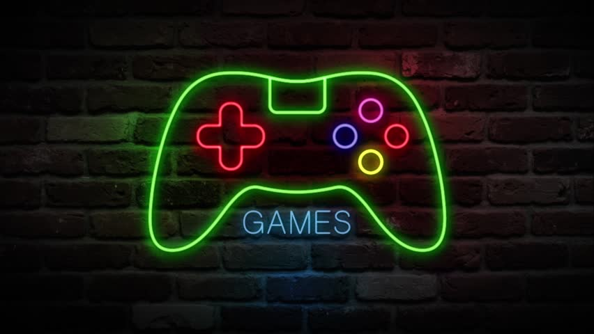 Games Neon Sign Joystick Neon Stock Footage Video 100 Royalty Free 1020730594 Shutterstock