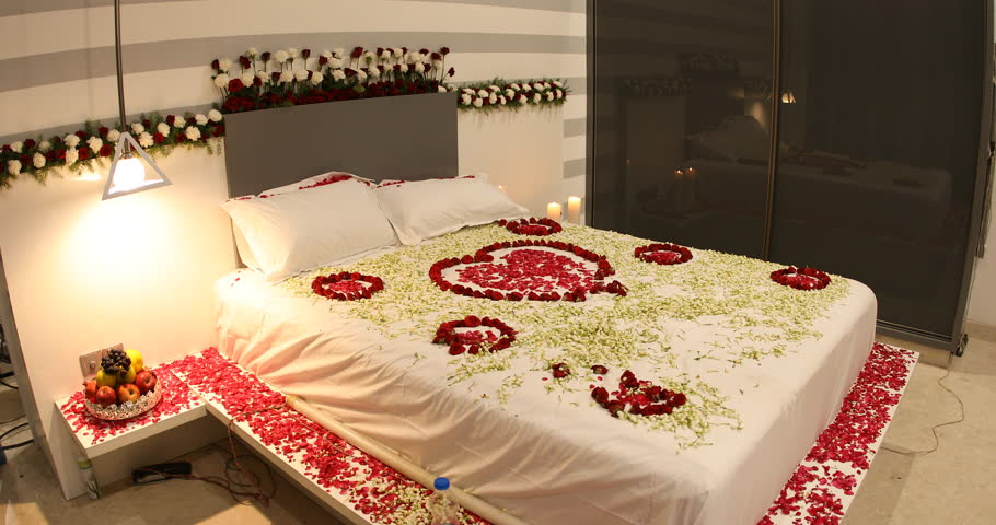 First Night Romantic Bedroom With Stock Footage Video 100 Royalty Free 1020787807 Shutterstock