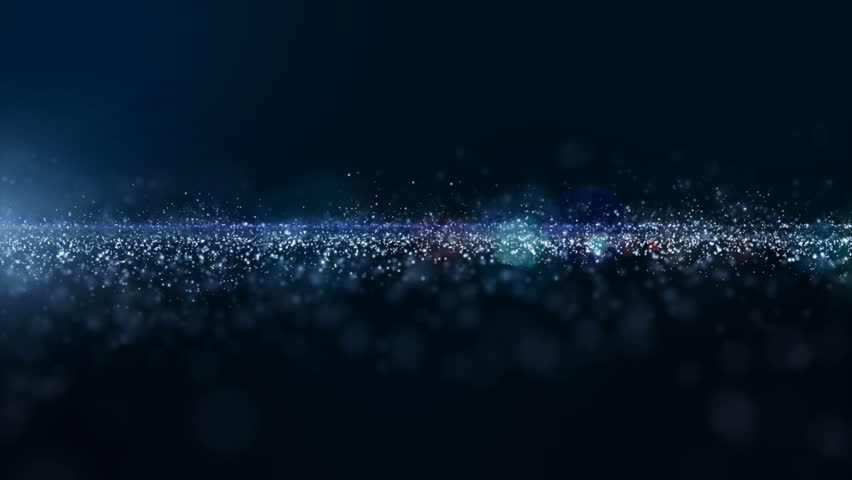 Digital blue color particles and light with bokeh flowing, Cyberspace, and technology digital connection abstract motion background concept. | Shutterstock HD Video #1020800704
