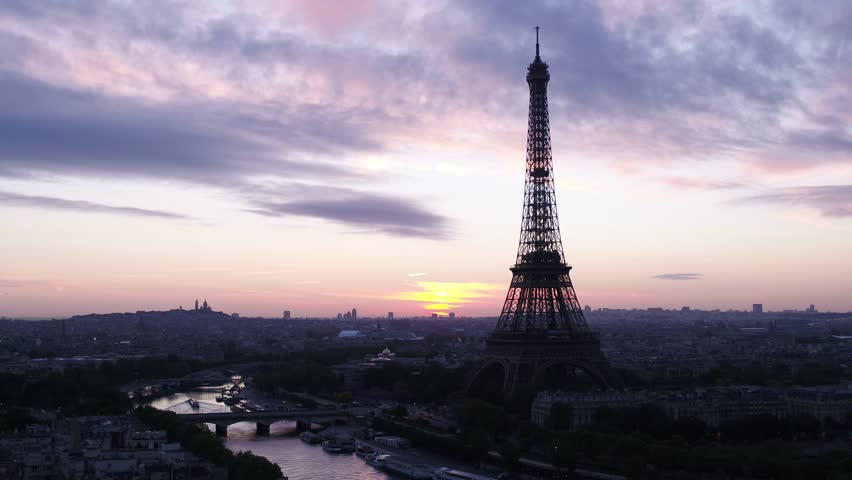 Eiffel Tower Paris drone aerial view | Shutterstock HD Video #1020809218