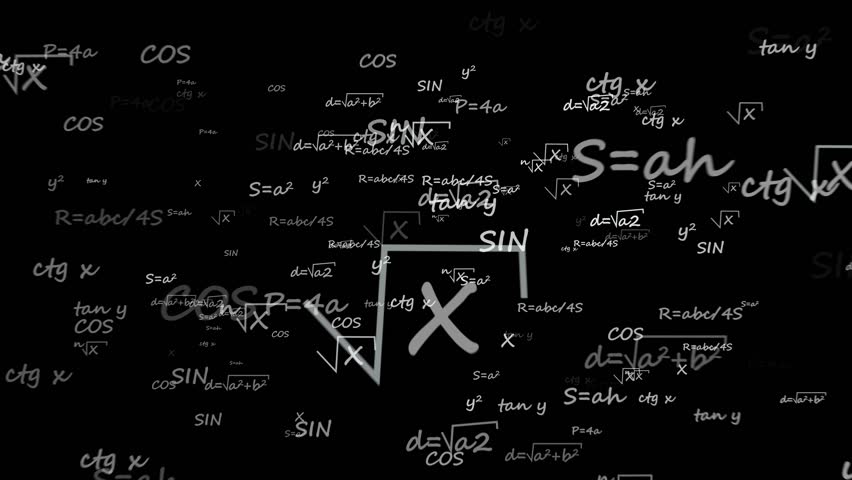 Camera flights in mathematics formulas in abstract space black background   Shutterstock HD Video #1020868447