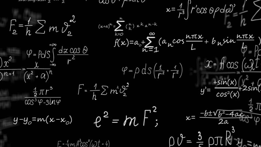 Mathematical formulas in black holographic space   Shutterstock HD Video #1020868459