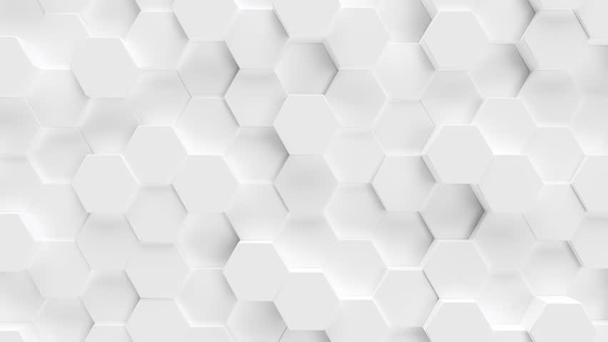 Technology hexagon pattern background - 4k seamless loop 3D rendering  | Shutterstock HD Video #1020873592