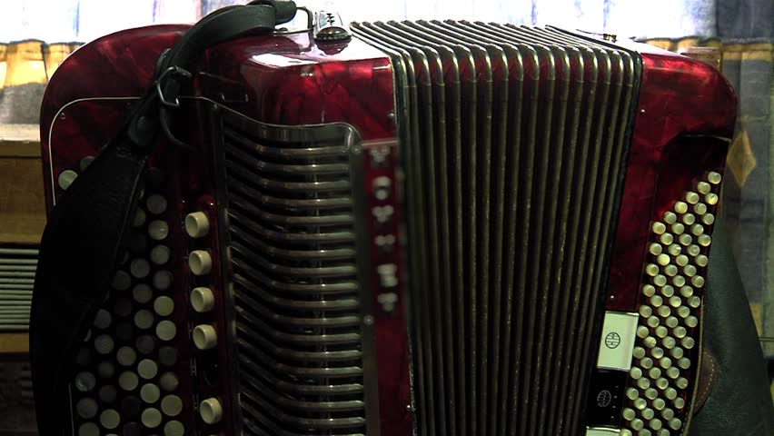 Red Accordion Moving Slowly.