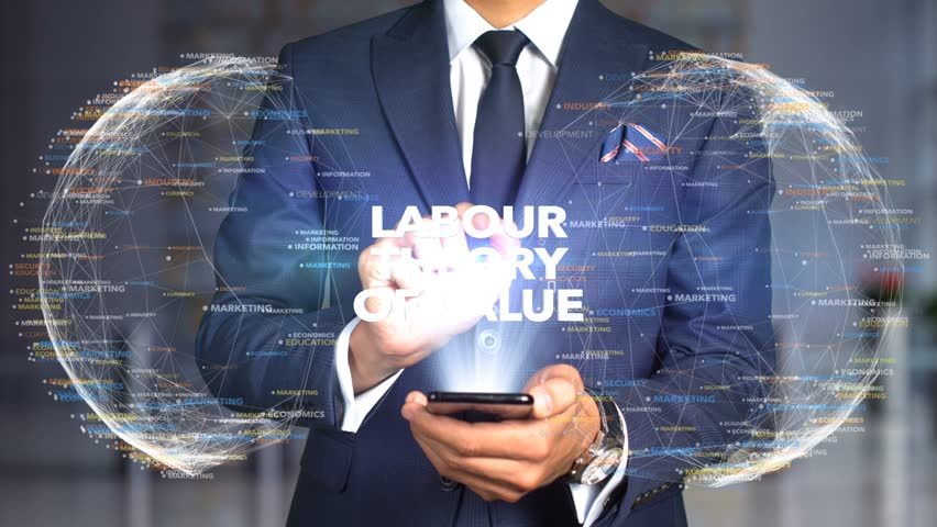 Businessman Hologram Concept Economics - Labour theory of value | Shutterstock HD Video #1020895657