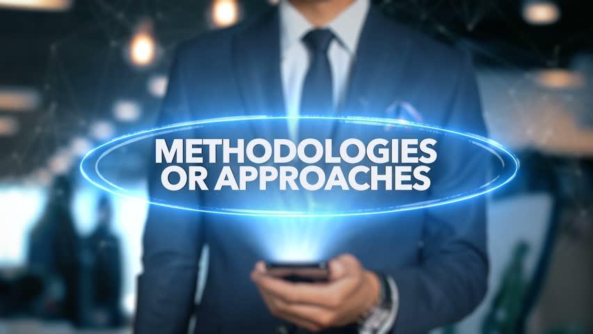 Businessman Hologram Economics - Methodologies or approaches Royalty-Free Stock Footage #1020899800