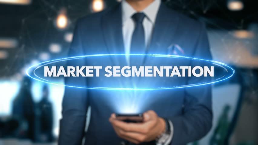 Businessman Hologram Economics - Market segmentation Royalty-Free Stock Footage #1020899857
