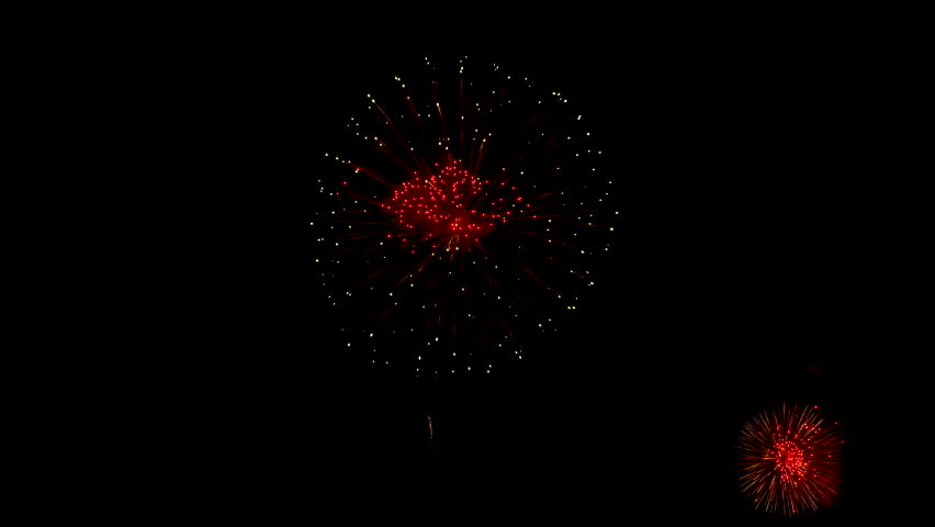 Beautiful fireworks blooming in the sky of celebration night | Shutterstock HD Video #1020908803