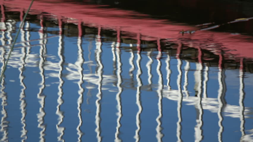 bridge abstract colorful reflections on water background   #1020909406