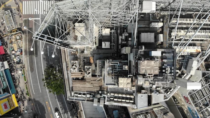 Drone footage of Shibuya Crossing in downtown Tokyo | Shutterstock HD Video #1020931441