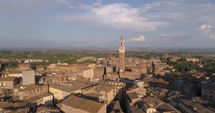 Aerial View of Siena - Italy | Shutterstock HD Video #1020952528