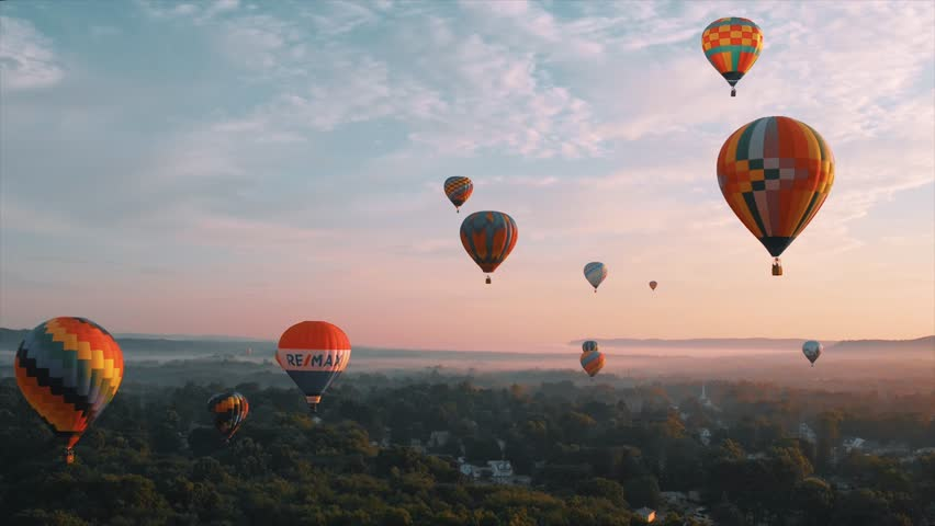 Portland, CT / United States - 08 28 2018: Hot Air Balloon Festival
