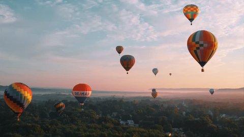 Portland, CT / United States - 08 28 2018: Hot Air Balloon Festival