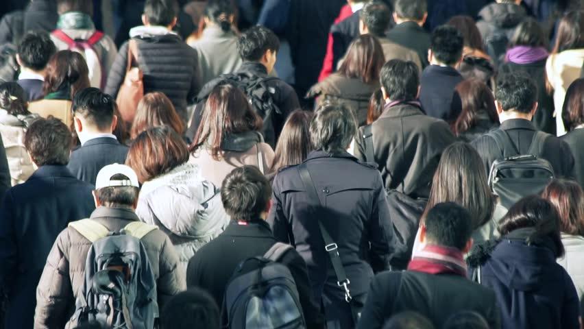 Business people Tokyo Japan walking moring