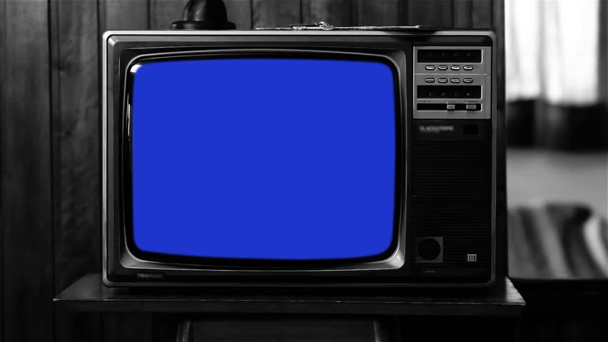 "Old Tv with Many Color Screens. Black and White Tone.  Ready to Replace Each Color Screens with any Footage or Picture you Want. You can do it with ""Keying"" (Chroma Key) effect. Zapping Concept. 