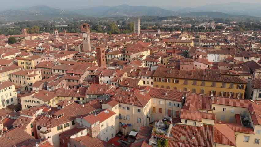 Torre Guinig in the city of Lucca | Shutterstock HD Video #1020985135