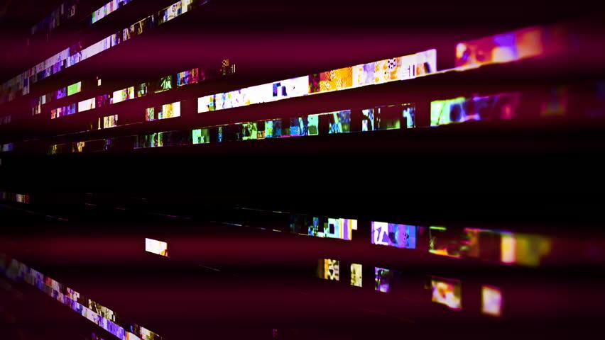 Futuristic digital video glitch malfunction (Loop).   Shutterstock HD Video #1021020340