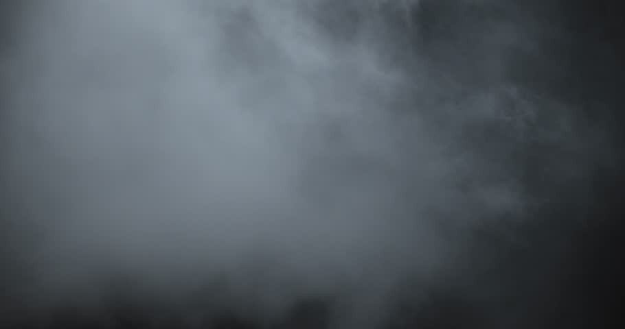 Atmospheric smoke 4K. Haze background. Abstract smoke cloud. Smoke in slow motion on black background. White smoke slowly floating through space against black background. Mist effect. Fog effect.