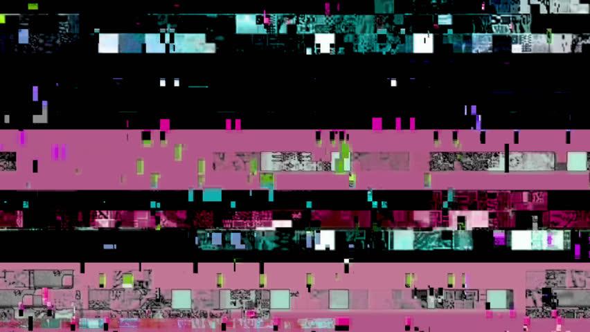 Digital video glitch malfunction (Loop).   Shutterstock HD Video #1021122352