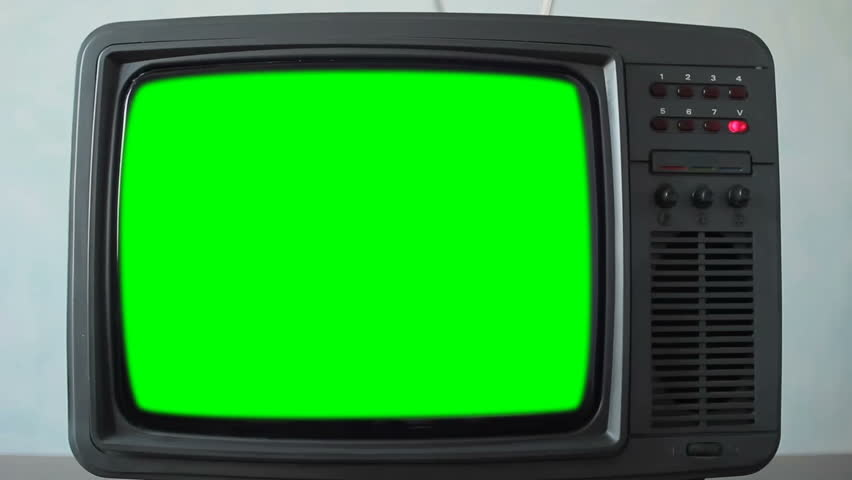 Retro Television with Green Screen | Shutterstock HD Video #1021217974