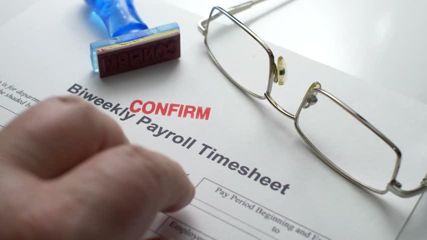 Payroll timesheet confirm