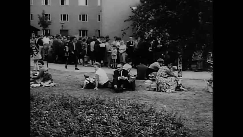 CIRCA 1965 - A film about the military on the border between east and west Germany