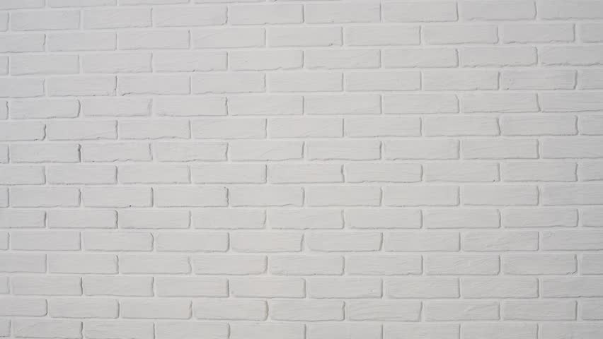 White Brick Wall As Background Stock Footage Video 100 Royalty Free 1021278307 Shutterstock