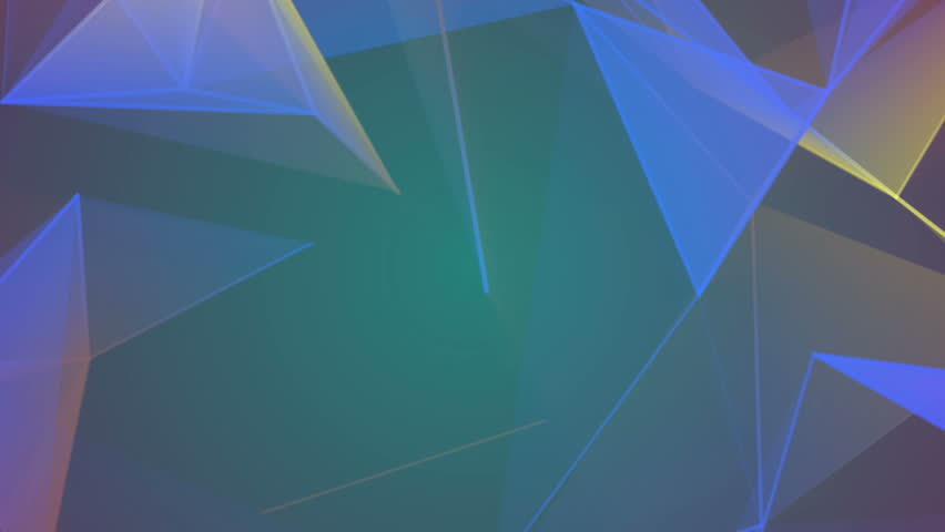 Low Poly Bright Colored Motion Futuristic Sci-Fi Polygonal Lines | Shutterstock HD Video #1021335568