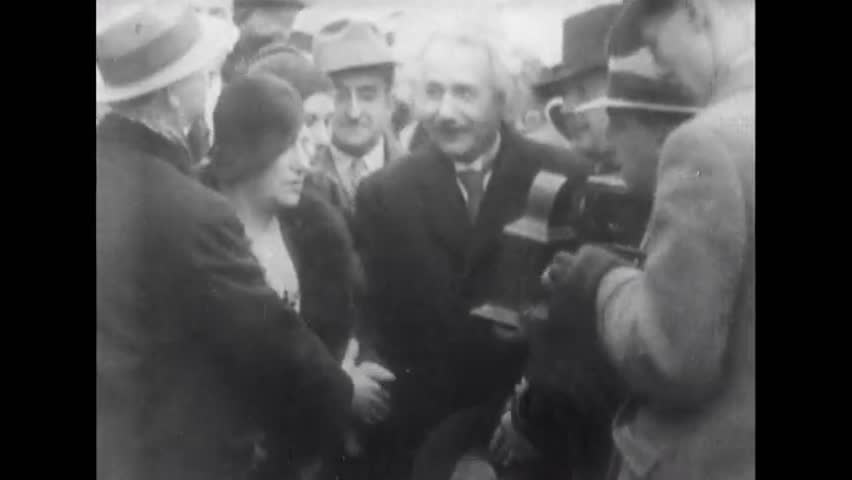 New York, United State of America. About 1933. Albert Einstein arrives in New York.