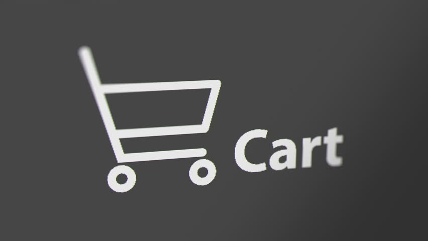 Cart Icon with Animated Counting Numbers. Online Shopping Concept.  | Shutterstock HD Video #1021354828