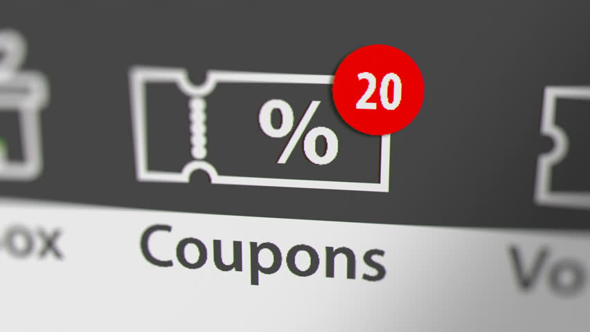 Coupons Icon with Animated Counting Numbers. Online Shopping Concept.  | Shutterstock HD Video #1021372204
