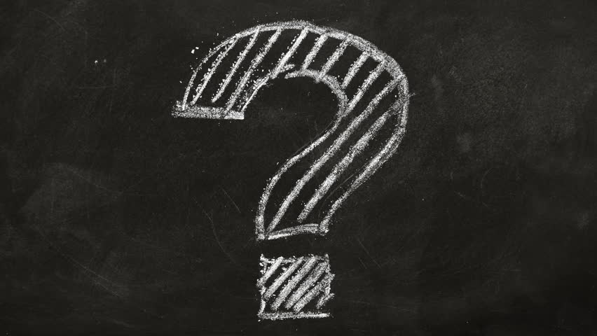 Question mark drawn in chalk on a blackboard | Shutterstock HD Video #1021397428