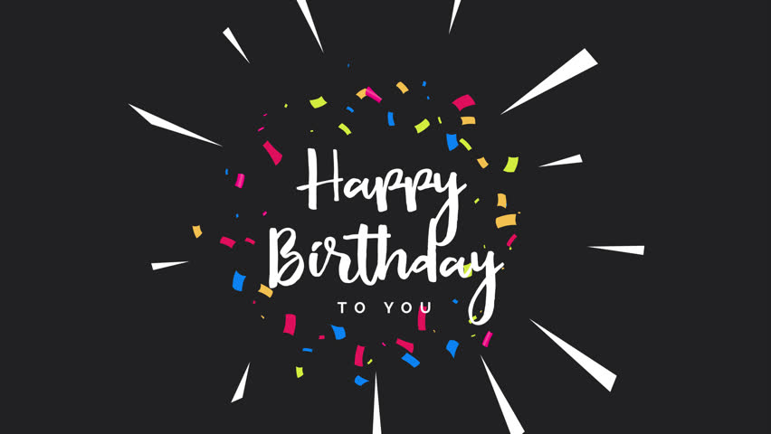 Happy Birthday Greeting Card Animation Stock Footage Video 100 Royalty Free 1021411435 Shutterstock