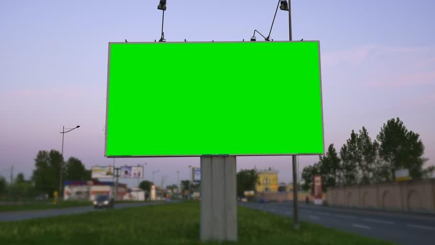 A Billboard with a Green Screen | Shutterstock HD Video #1021428481