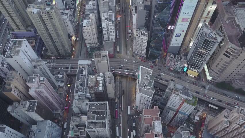 Hong Kong Circa-2017, aerial view | Shutterstock HD Video #1021431055