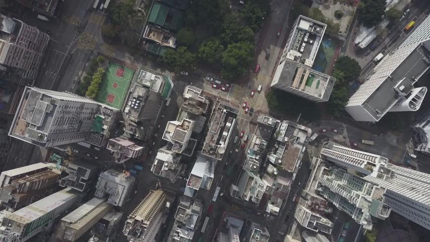 Hong Kong Circa-2017, aerial view #1021431151
