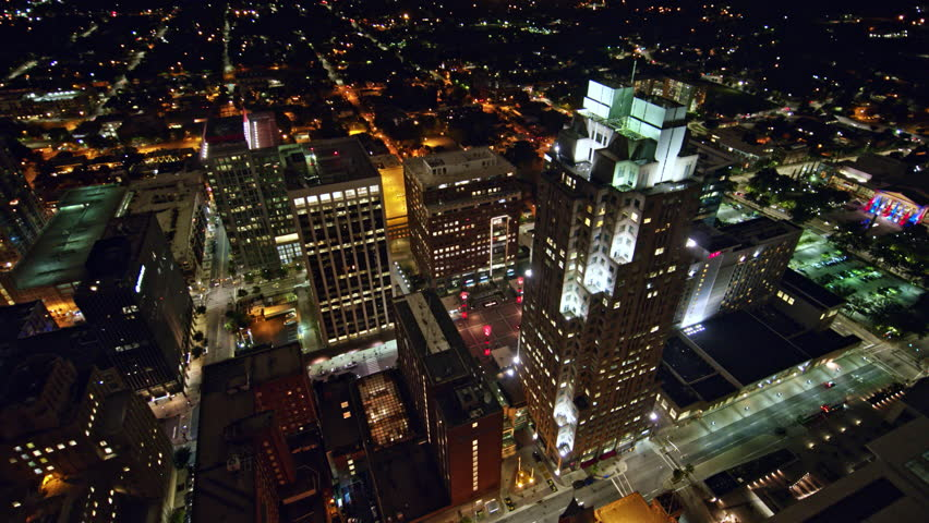 North Carolina Raleigh Aerial v6 Birdseye cityscape to vertical detail over City Plaza 10/17 | Shutterstock HD Video #1021504966