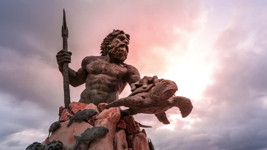 Hero of the Sea, King Neptune Reigns. A Virginia Beach Mythical Sculpture Time Lapse.