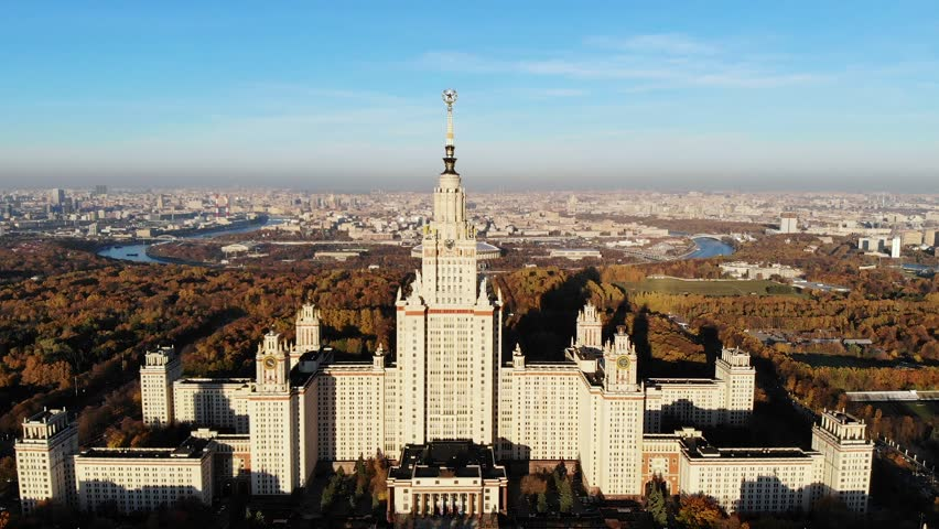 Moscow state University. Moscow, Russia | Shutterstock HD Video #1021587019