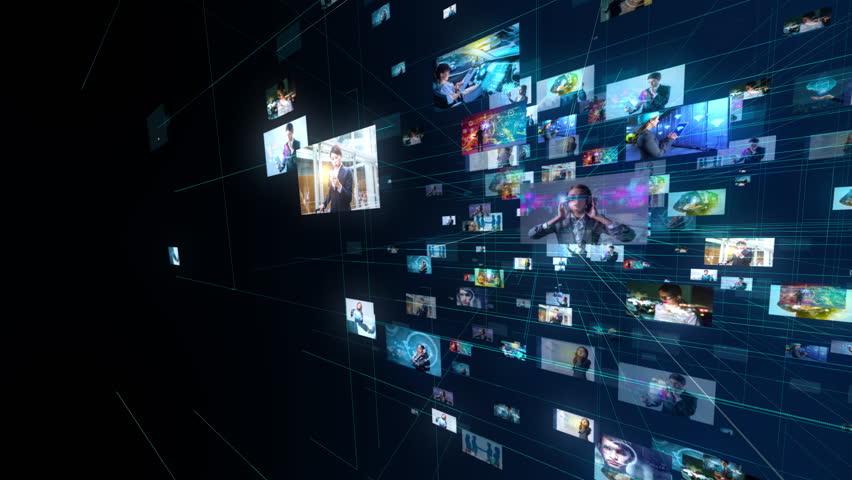Social networking concept. | Shutterstock HD Video #1021588495