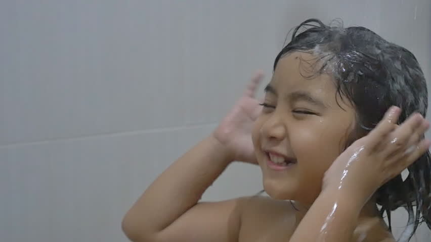 Happy Asian Child Washes Hair Stock Footage Video (100% Royalty-free)  10215911 | Shutterstock