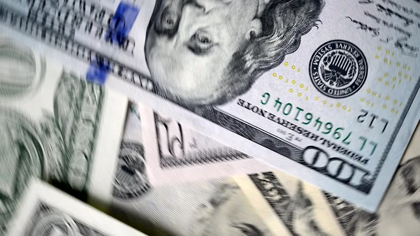 Money or dollar banknotes rotating in slow motion | Shutterstock HD Video #1021595698