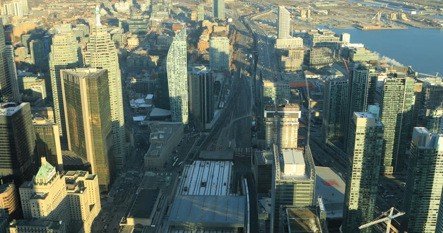 Aerial view of Toronto, Canada 4K | Shutterstock HD Video #1021597768