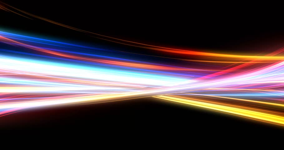 Glowing Energy Lines with Mixing Neon Lights | Shutterstock HD Video #1021647349