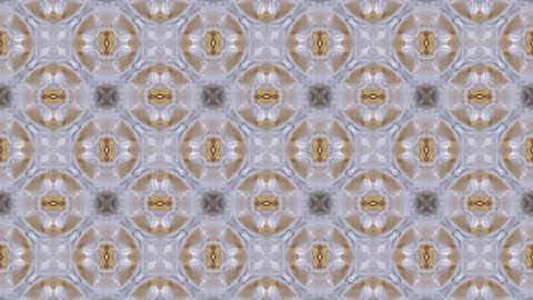 Abstract geometric VJ loop background kaleidoscope texture, fractal geometric shape pattern. Seamless loop