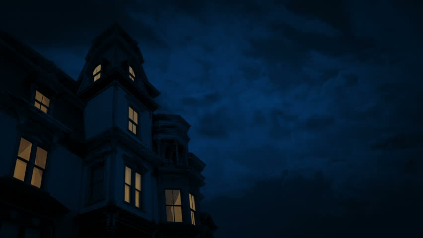 Scary Old House With Lights On At Night | Shutterstock HD Video #1021750105