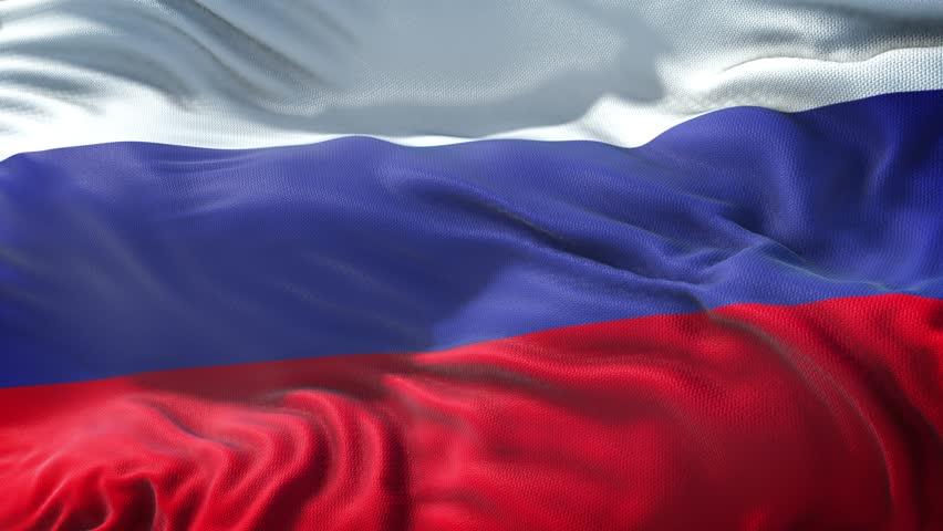 Realistic Flag of Russia Loop